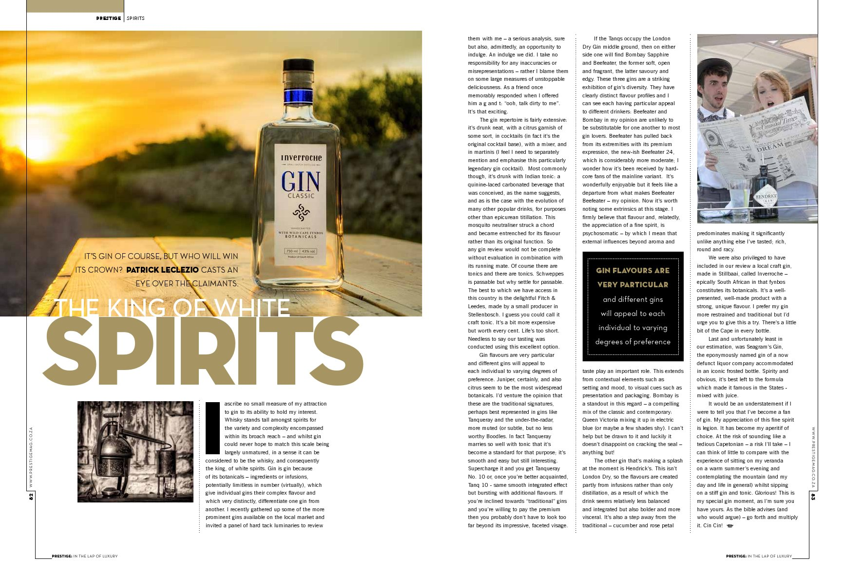 The king of white spirits   The Indy