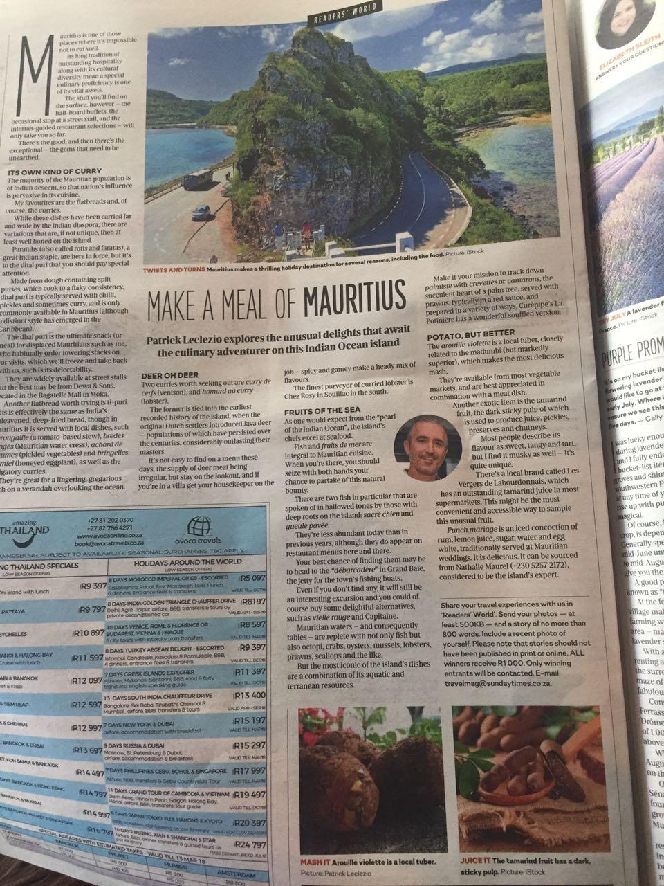 Sunday Times mauritius