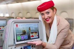 World's largest Economy Class screens at 13.3 inches